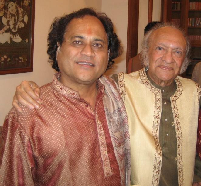 Krishna Bhatt with Pt. Ravi Shankar and Manju Mehta